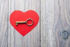 Coeur et clé Image stock
