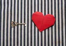 Coeur et clé Photographie stock libre de droits