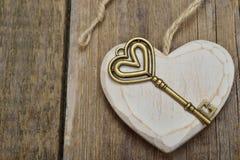 Coeur et clé Photo libre de droits