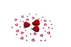 Coeur et coccinelles Photo libre de droits