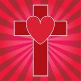 Coeur et croix Photo libre de droits