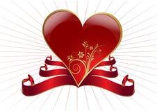 Coeur et drapeau Image stock