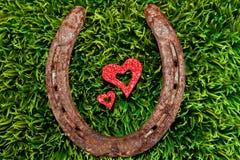 Coeur et fer à cheval Images libres de droits