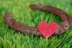 Coeur et fer à cheval Images stock