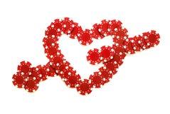 Coeur et flèche Image stock