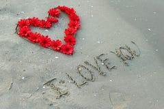 Coeur et fleurs Image stock