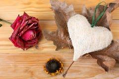 Coeur et fleurs Photographie stock libre de droits