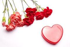 Coeur et fleurs Image libre de droits