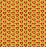 Coeur et fleurs sur le fond coloré lumineux Configuration sans joint pour la conception Illustration de vecteur Image libre de droits