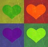 Coeur et fond de rectangles. image libre de droits