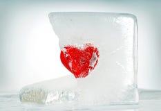 Coeur et glace Photos libres de droits