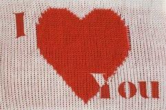 Coeur et inscription rouges Images stock