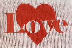 Coeur et inscription rouges Photos libres de droits