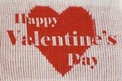 Coeur et inscription rouges Images libres de droits