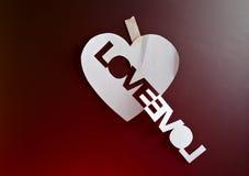Coeur et mot Images stock