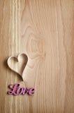 Coeur et mot de papier Photos libres de droits