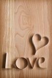 Coeur et mot de papier Image libre de droits