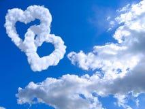 Coeur et nuages Photo libre de droits