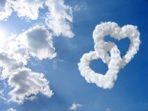 Coeur et nuages Image stock
