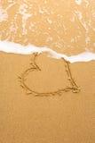 Coeur et onde photo libre de droits