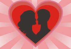 Coeur et paires rouges illustration de vecteur