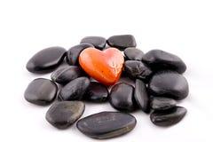 Coeur et pierres Photographie stock