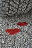Coeur et pneu Images libres de droits