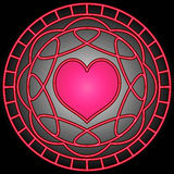 Coeur et remous roses Photo libre de droits