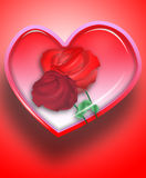 Coeur et roses 3 d'amour Image stock