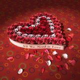 Coeur et roses Photos stock