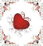 Coeur et roses. Jour de Valentines. Conception Images libres de droits