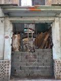 Coeur et ruines dans les rues de La Havane Image libre de droits