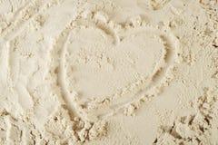 Coeur et sable Images libres de droits