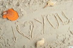 Coeur et sable Image libre de droits