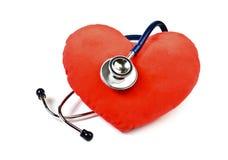 Coeur et stéthoscope Image stock