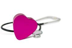 Coeur et stéthoscope Photographie stock libre de droits