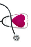 Coeur et stéthoscope Images libres de droits