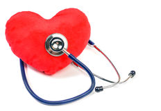Coeur et stéthoscope Photos stock