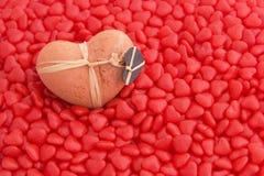 Coeur et sucrerie d'argile Image libre de droits
