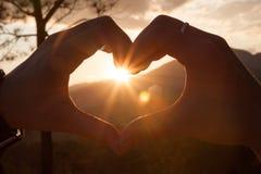 Coeur et Sun des couples Photo libre de droits