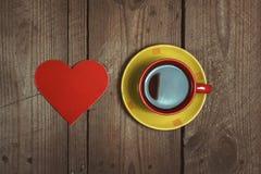 Coeur et tasse Images stock