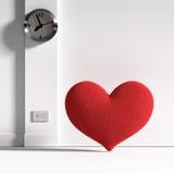 Coeur et temps Photo stock