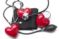 Coeur et un stéthoscope Photo stock
