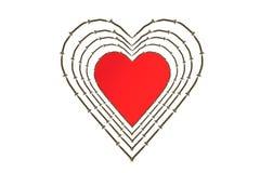Coeur et vis Photos libres de droits