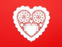 Coeur fabriqué à la main de papier de fantaisie de découpage Images libres de droits