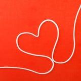 Coeur fait à partir de la corde Photographie stock
