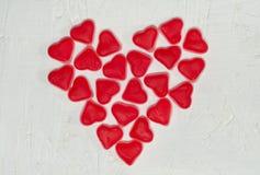 Coeur fait à partir des bonbons à gelée Images libres de droits