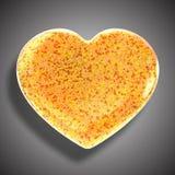Coeur fait à partir des feuilles, Photo libre de droits
