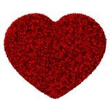 Coeur fait à partir du congé rouge Image libre de droits