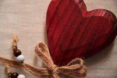 Coeur fait de bois Image libre de droits